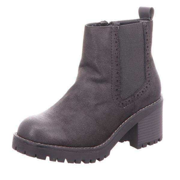 living UPDATED Damen-Stiefelette Chelsea Boot Schwarz