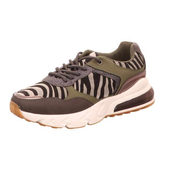 living UPDATED Damen-Sneaker-Schnürhalbschuh Zebra-Grey-Multi